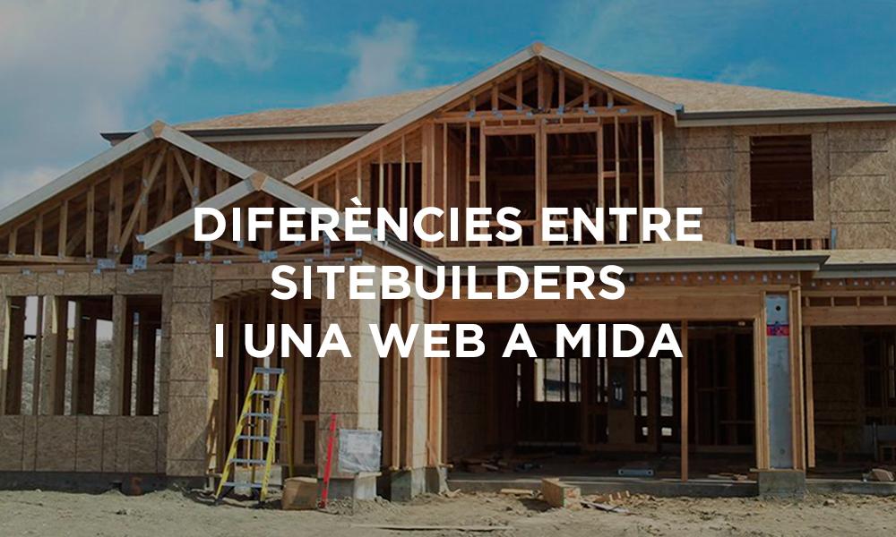 Diferències entre sitebuilders i una web a mida