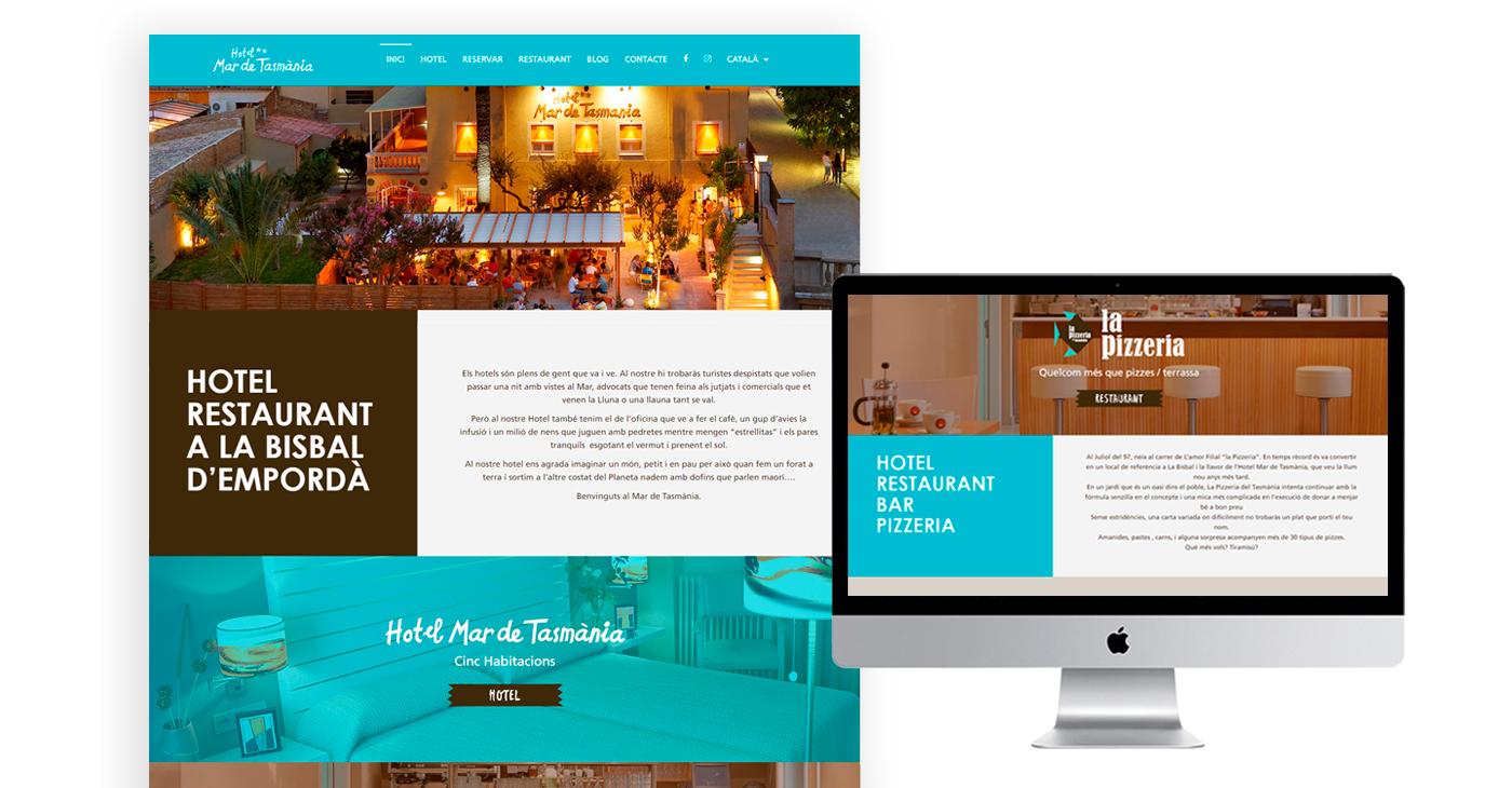 hotel restaurant la bisbal dd'empordà, disseny web, programció