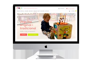 Portada botiga online Monjoc a la Bisbal d'Empordà