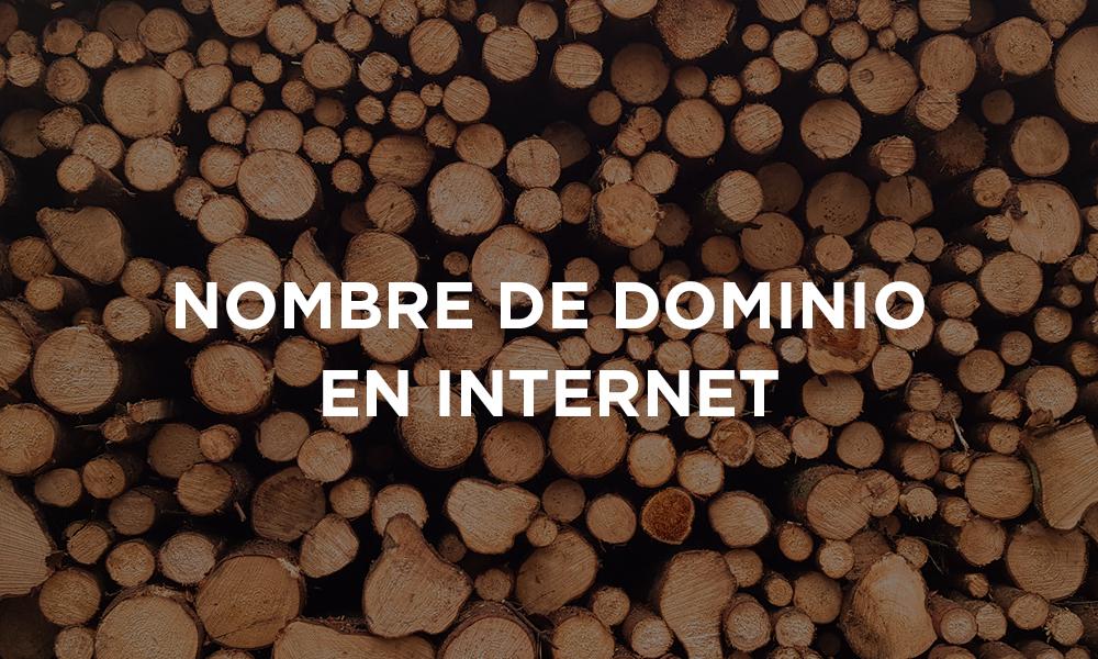 Nombre de dominio en Internet